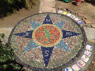 Mosaic Girl Scout Bronze Award project
