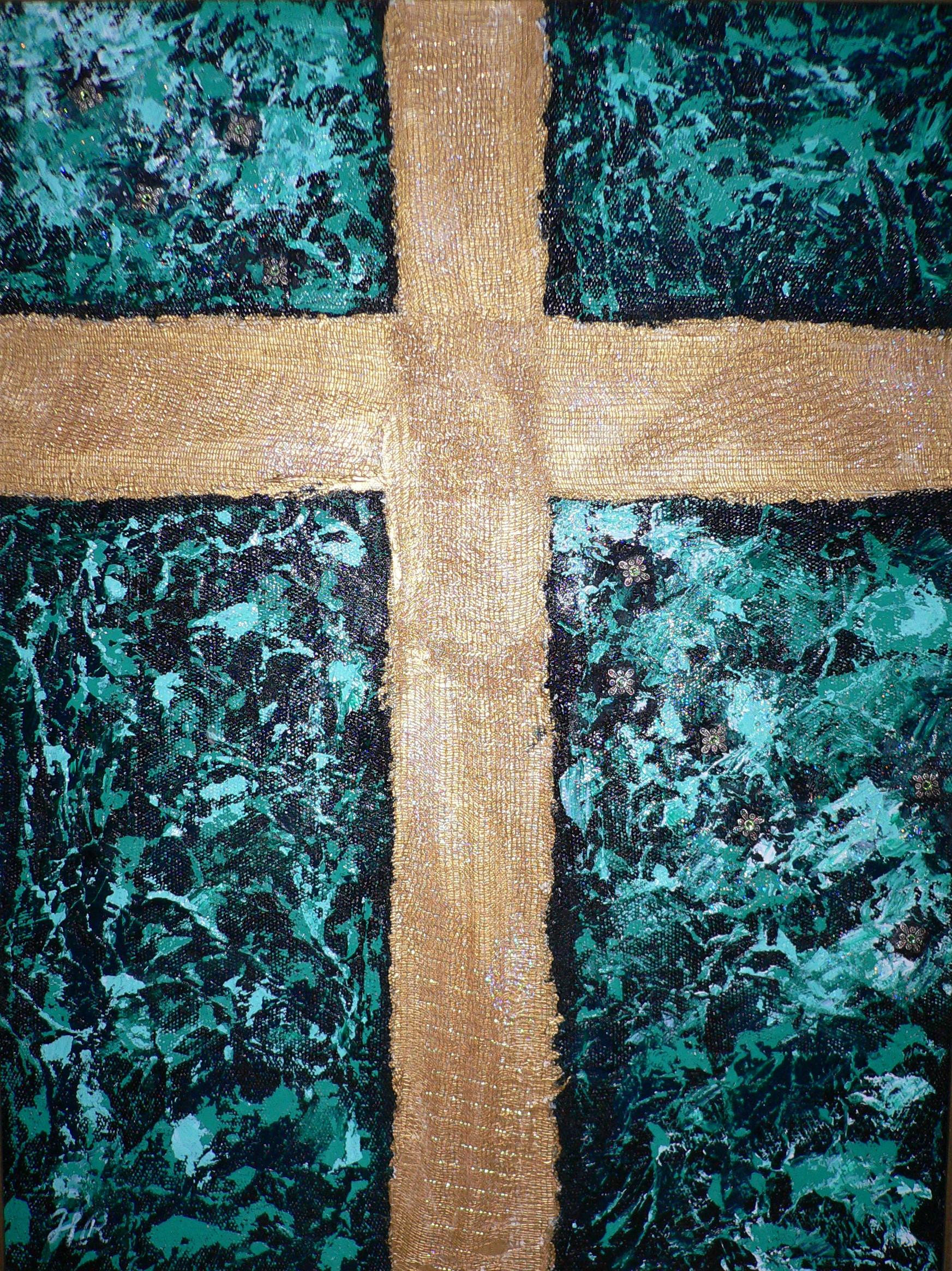 Cross on Green $250