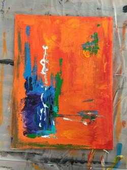 Color Study Orange II $75