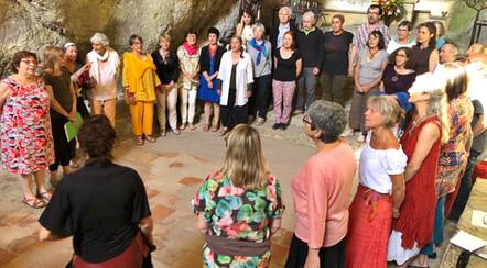 40 chanteuses & chanteurs réunis à Galamus! juin 2019