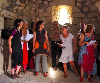 Répétition-poilade au château d'Aguilar, juin 2018