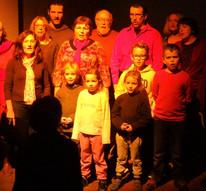 Enfants & adultes en polyphonie à Cucugnan, hiver 2016