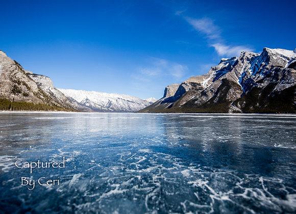 Frozen Lake Minnewanka