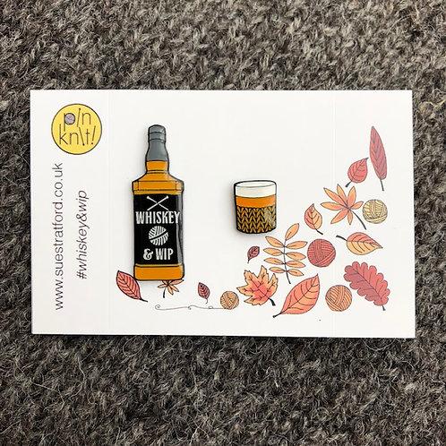 Whiskey & Wip Pin badge set