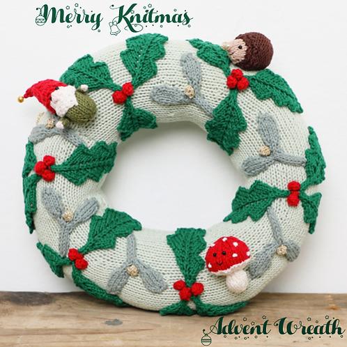 Knitmas Advent Calendar Wreath with Yarn Pack