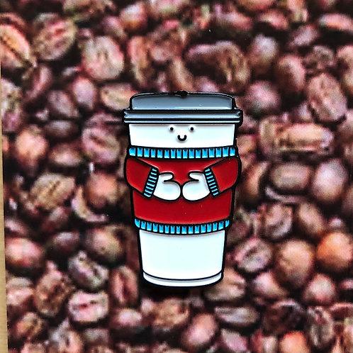 Coffee Cup Pin Badge