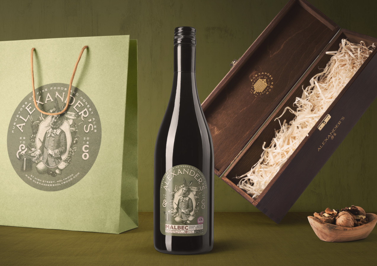 wine and bag premium branding