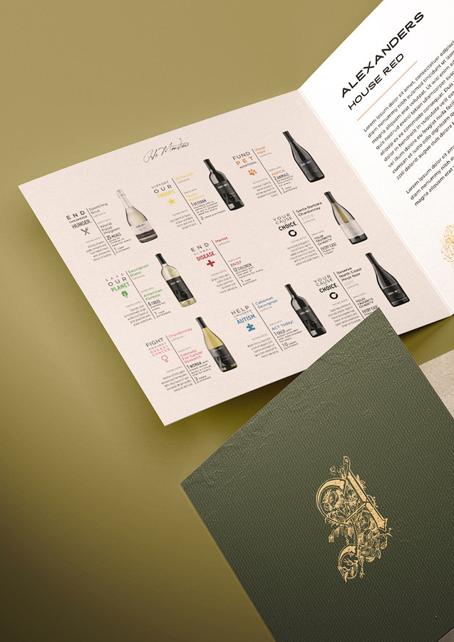 Wine booklet