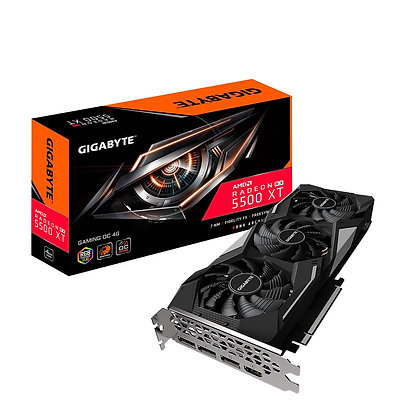 GIGABYTE RX 5500XT 4GB DDR6 GAMING RGB