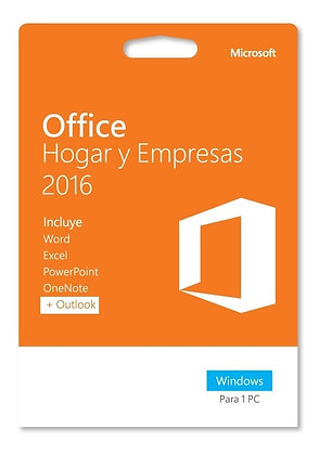 Office Hogar y Empresas 2016 vitalicio