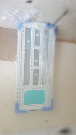 PORTE ENTREE PVC VITREE