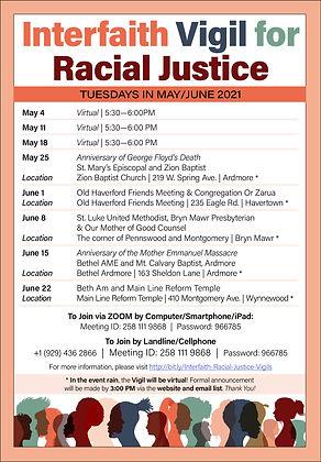 Racial Justice flyer