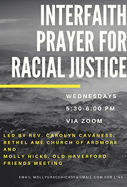 Interfaith Prayer for Racial  Justice fl