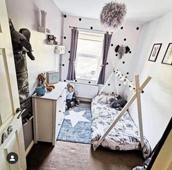 Arlo enjoying this beautiful Elephant Themed bedroom.