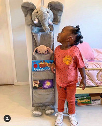 Coco with Arlo the Elephant.