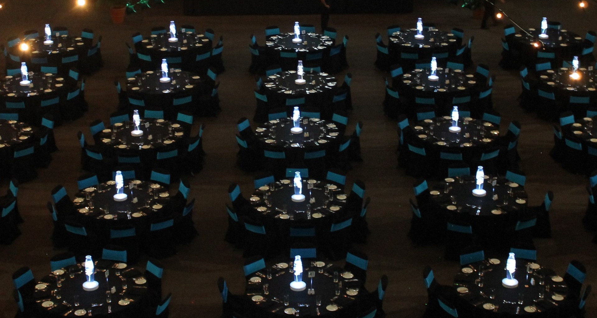 Black and Aqua Chair Covers