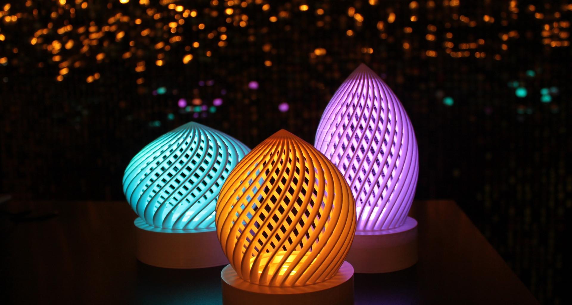 3D Printed Trio Centrepiece