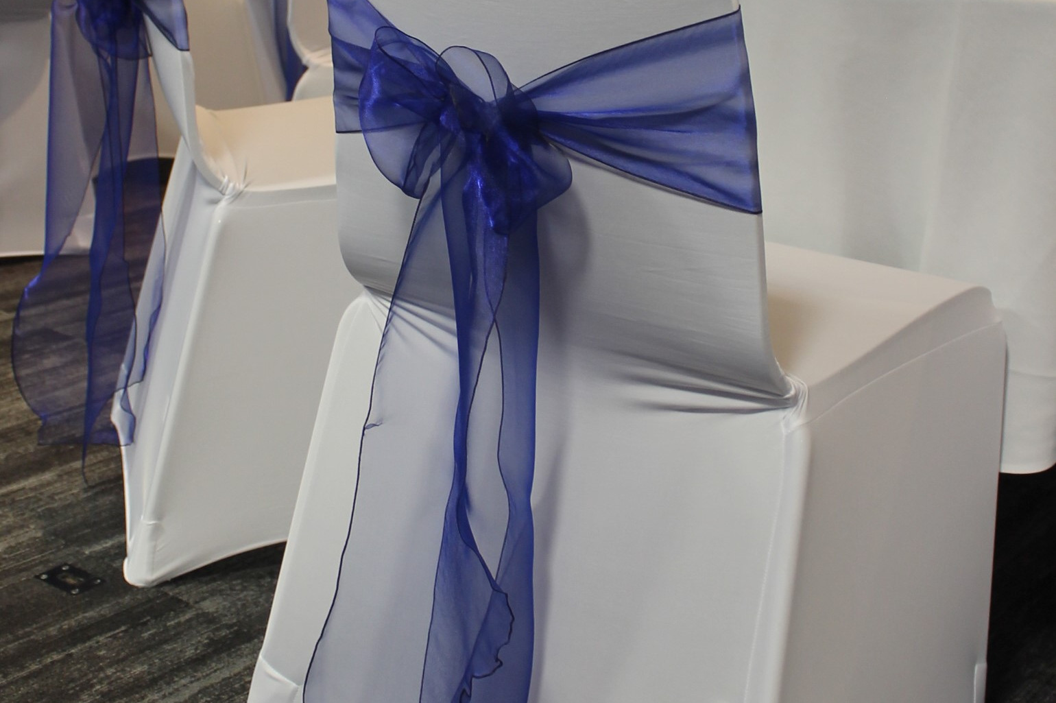 Blue Organza Chair Ties