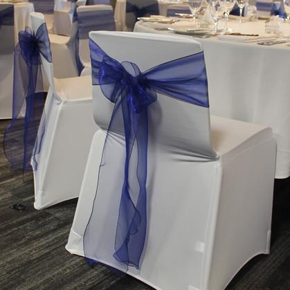 Blue Organza Chair Ties