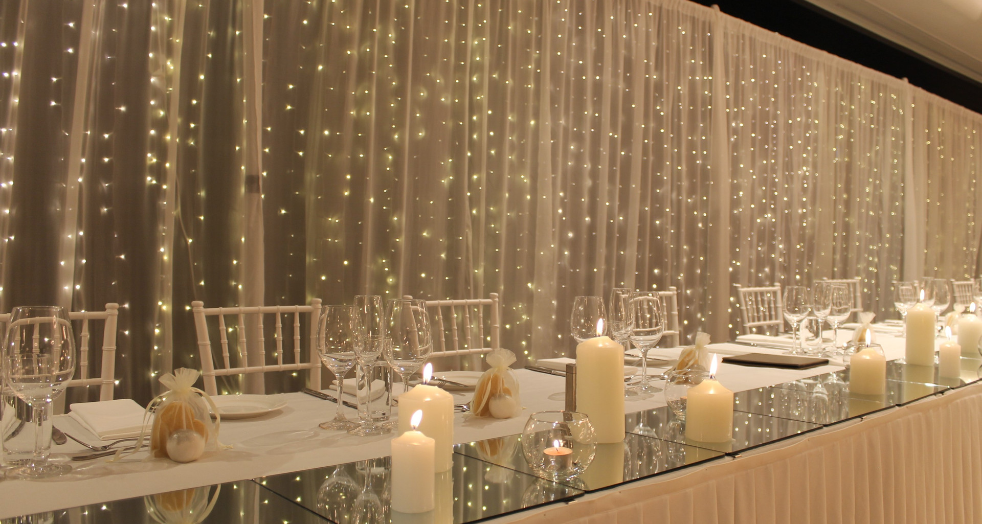 Wedding Fairy Light Backdrop