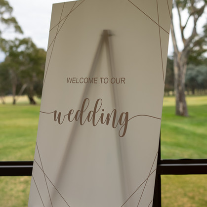 Welcome to Our Wedding Acrylic Sign