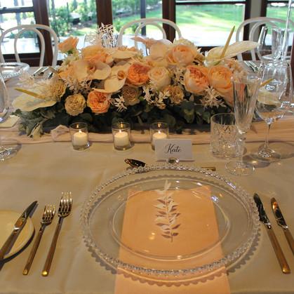 Modern Romantic Wedding Place Setting