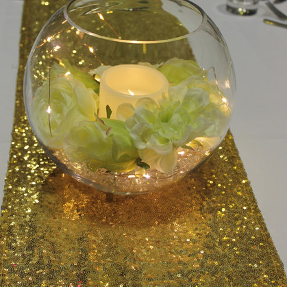 Gold Sequin Table Runner