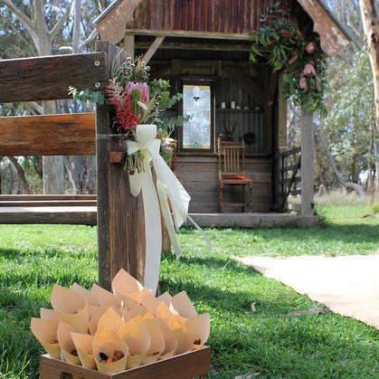 Bush wedding ceremony