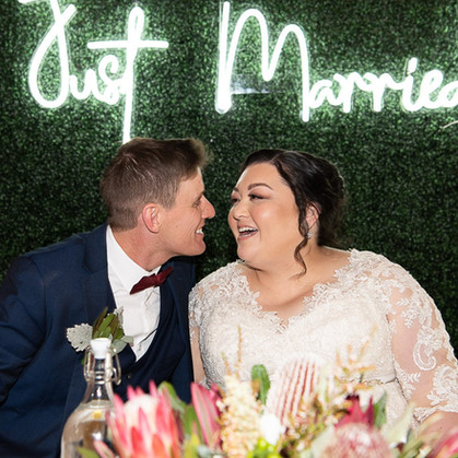Just Married Bridal Table Backdrop