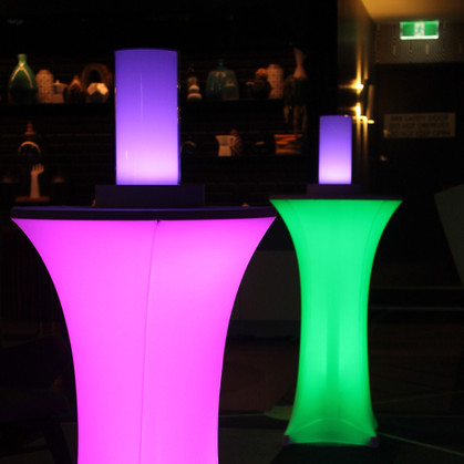 Glowing Cocktail Tables