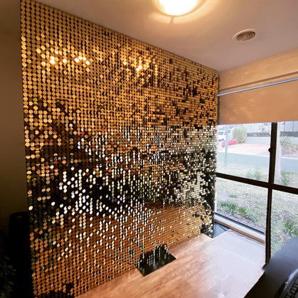 Gold Shimmer Wall