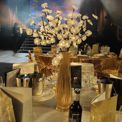 Flower Light Centrepiece Gold