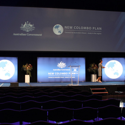 Govenment Event Stage Set