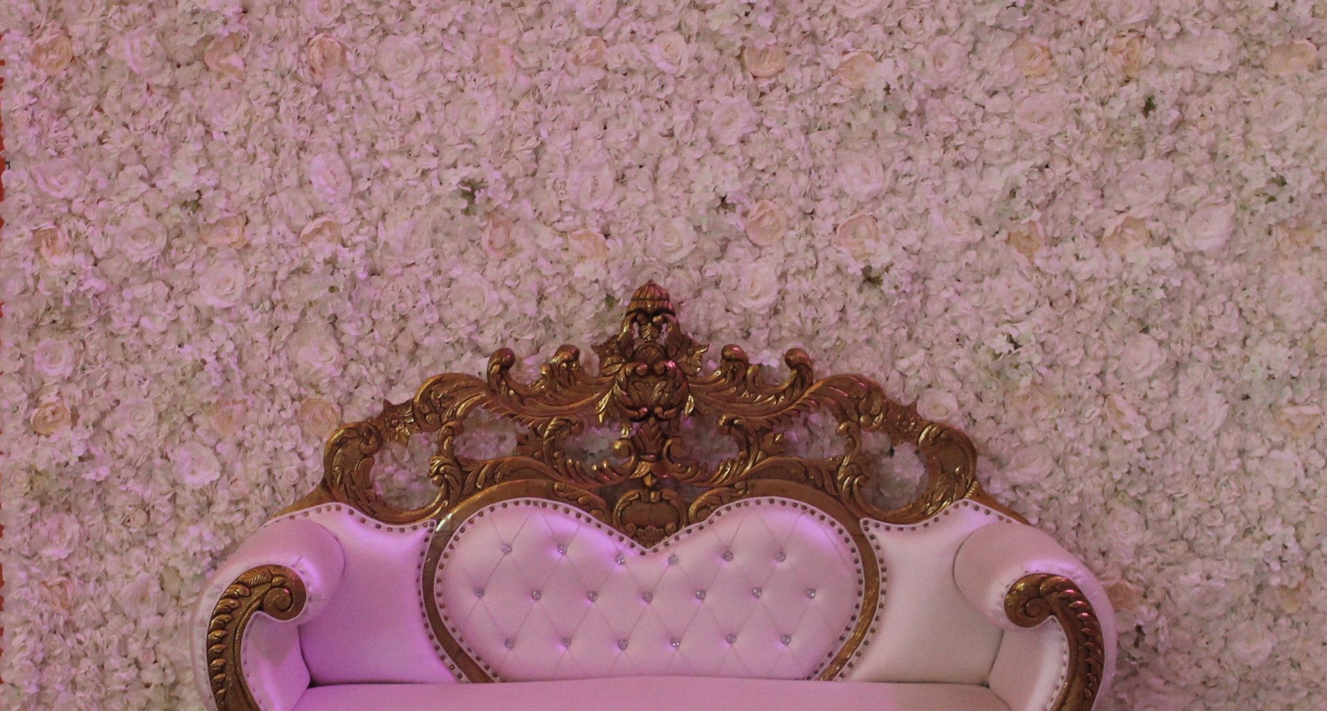 Flower Wall with Love Seat