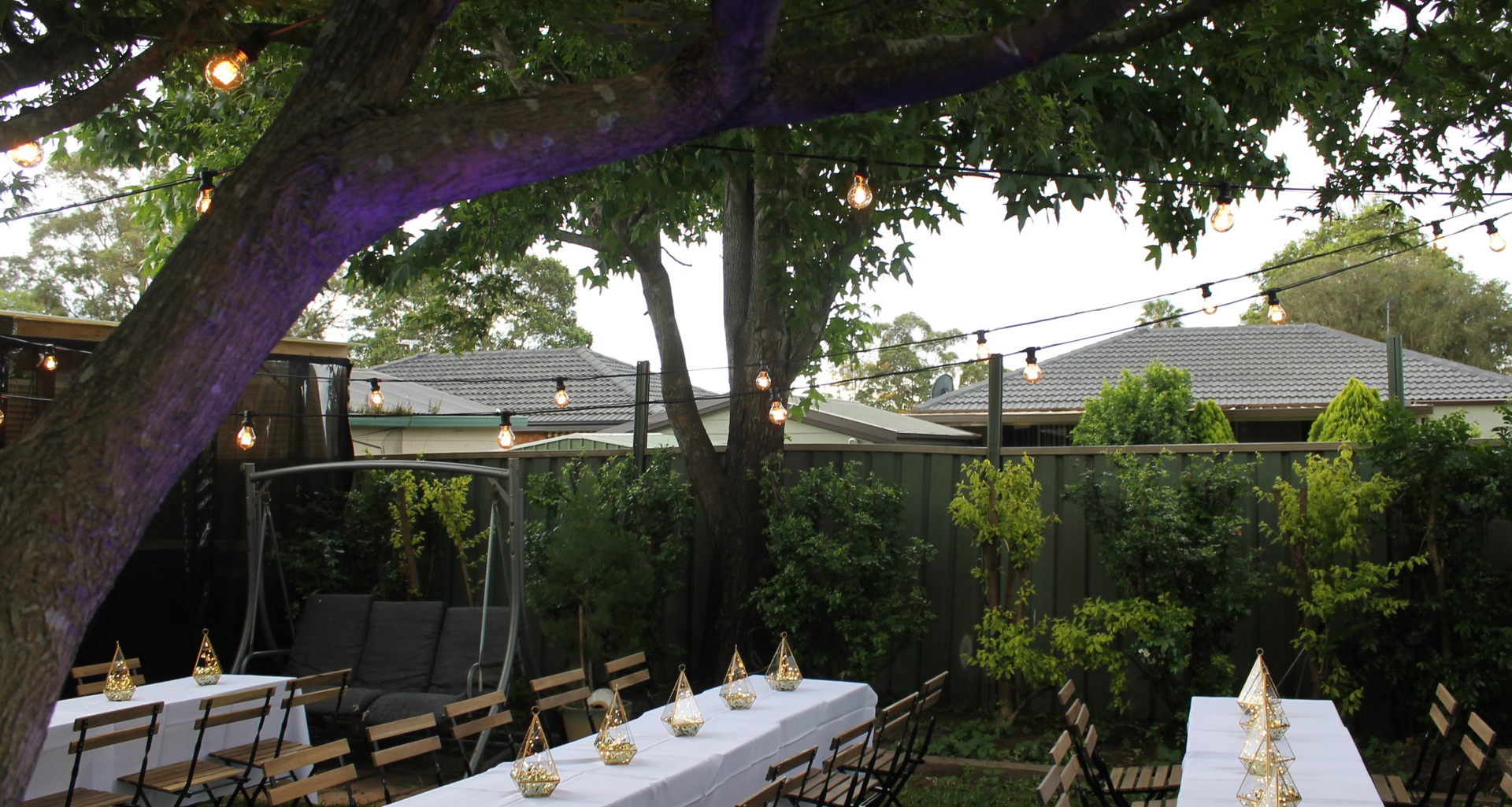 Outdoor garden party