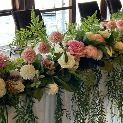 Pink Bridal Table Floral