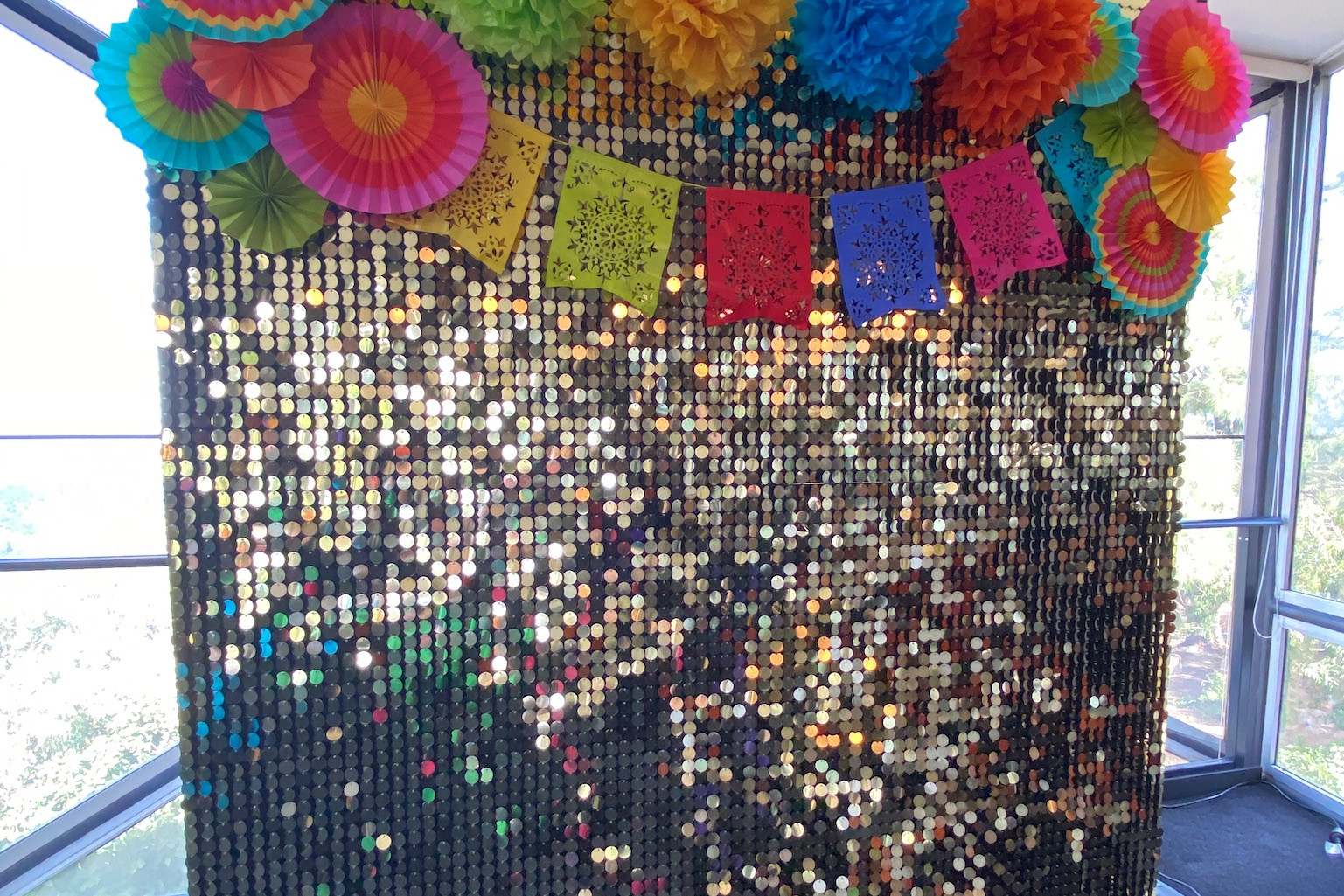Gold Shimmer Wall Day of the Dead theme