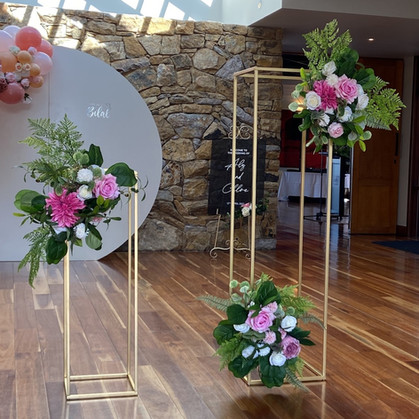 Flower Stands with Pink Flowers
