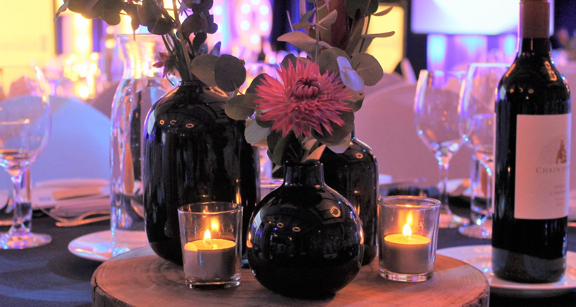 Black Vase Trio Centrepiece