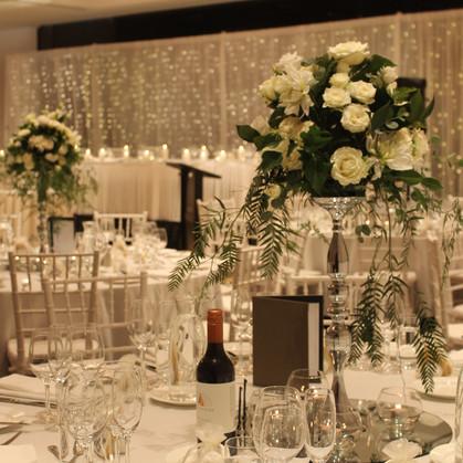 Wedding Centrepieces Pedestals with Fresh Floral