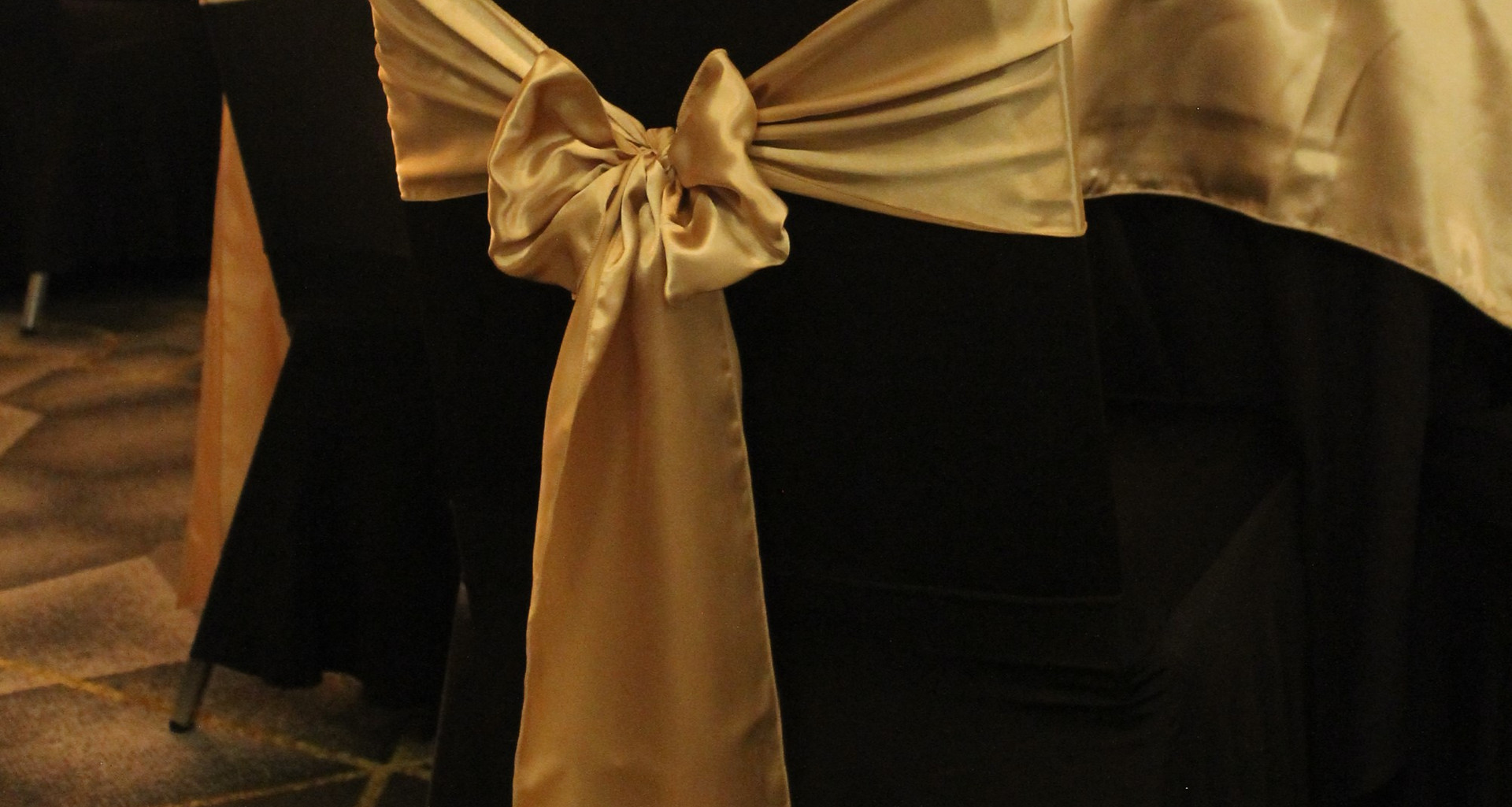 Champagne Gold Chair Sash