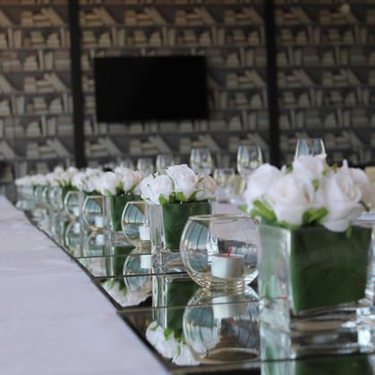 Long Wedding Table Tablescape