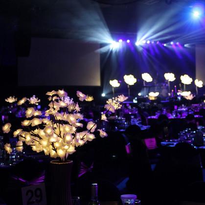 Flower light centrepieces