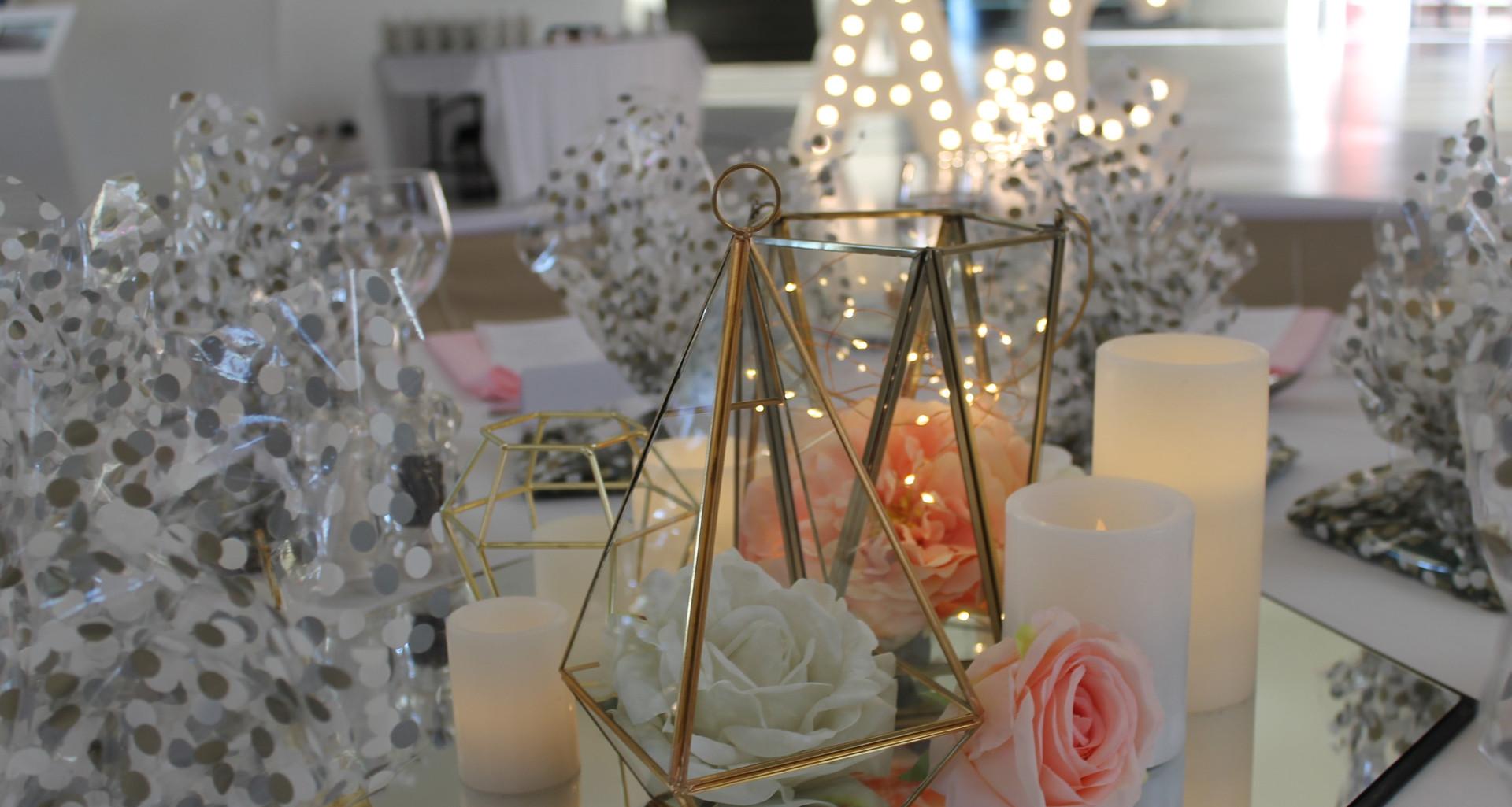 Wedding Geometric Trio Centrepiece