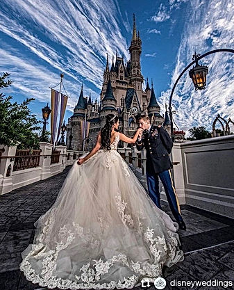 Usa, Californie, Mariage à disney