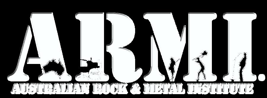 ARMI Australian Rock & Metal Institute logo. Australia's first Music school specialising in Rock and Metal in Adelaide, South Australia.
