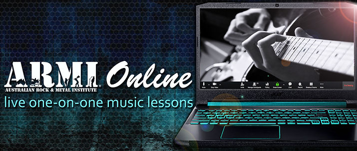 ARMI Online Music Lesons. Heavy Meta Vocal training, Vocal lessons all styles, Guitar, Bass, Drums, Keys.