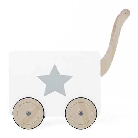 toy chest on wheels white