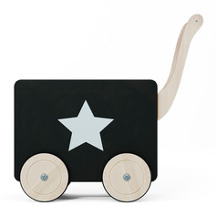toy chest on wheels black