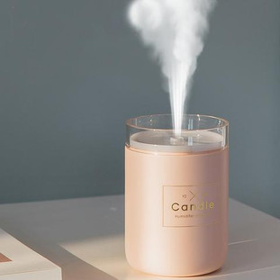 Humidificateur Bougie Rose